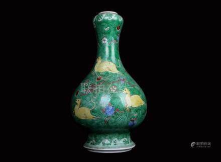 China,Su San Cai Vase