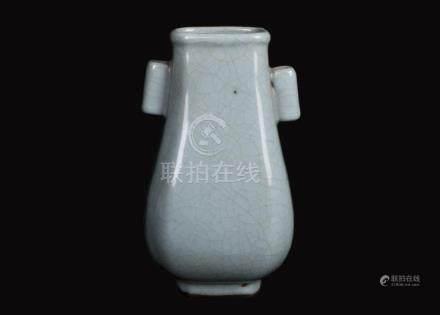 China, Ge Yao Two Ears Vase
