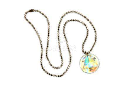 Chanel Iridescent Perspex Prism Necklace