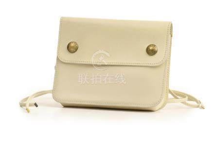 Hermes Ivory Box Leather Bum Bag