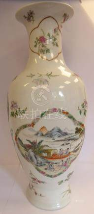 A late 19thC Chinese porcelain vase,