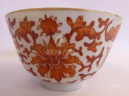 A late 19thC Chinese porcelain bowl,