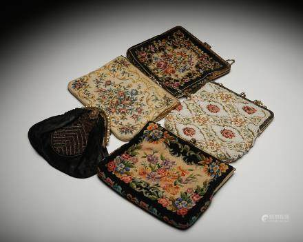 CHINESE SET OF 5 EMBROIDERY POUCHES