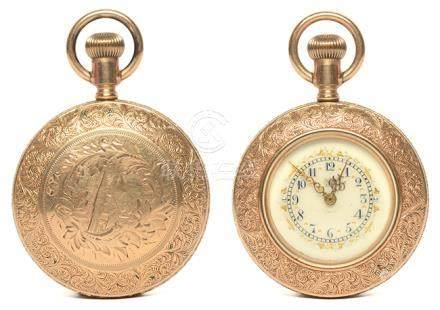 美國 ADDISON 鍍金手動上鏈陀錶