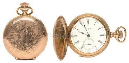 瑞士 ELGIN 依利展 鍍金手動上鏈陀錶