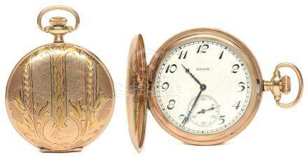 瑞士 ELGIN 依利展 鍍金手動上鏈陀錶 (附鍍金陀錶鏈)