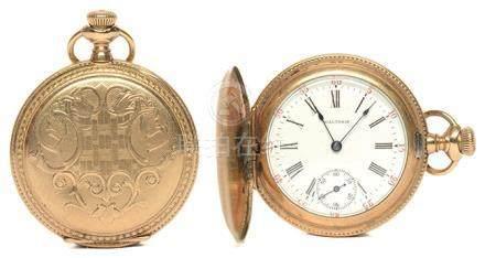 瑞士 WALTHAM 華爾頓 鍍金手動上鏈陀錶