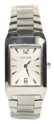 瑞士 CONCORD 君皇 鋼石英腕錶