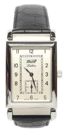 瑞士 TISSOT 天梭 鋼手動上鏈皮帶腕錶 (原裝扣)