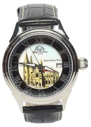 GALLET & SOHNE  鋼自動上鏈皮帶腕錶