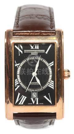 瑞士 FREDERIQUE CONSTANT 鍍金自動上鏈皮帶腕錶 (原裝扣)