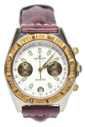 PRYNGEP'S 鋼自動上鏈皮帶腕錶