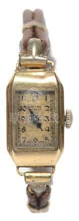 瑞士 WEST END 9K黃金手動上鏈皮帶腕錶