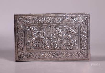 Zhong Hongxing Chinese Qing Repousse Silver Box