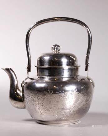 Japanese Silver Teapot; 254.5G