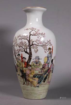 Chinese Republic Fencai Porcelain Vase