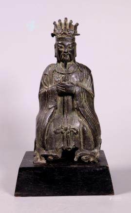 Fine Chinese 16 Century Ming Dynasty Bronze Figure