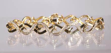 Tiffany Picasso Loving Heart 18K Diamond Bracelet