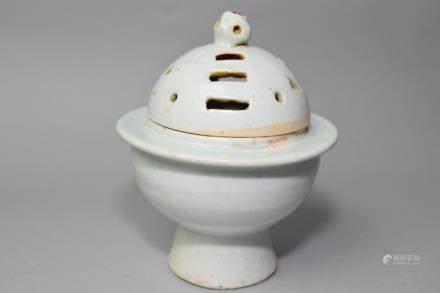Song/Yuan Chinese White Glaze Eight Trigram Censer