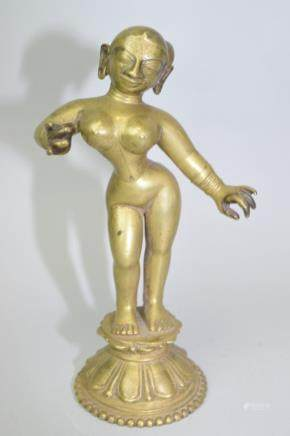 17-19th C. Nepalese Bronze Buddha
