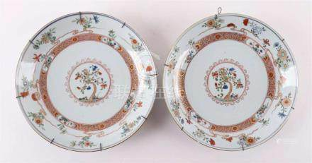 A set of porcelain deep dishes, China, Qianlong, 18th centur