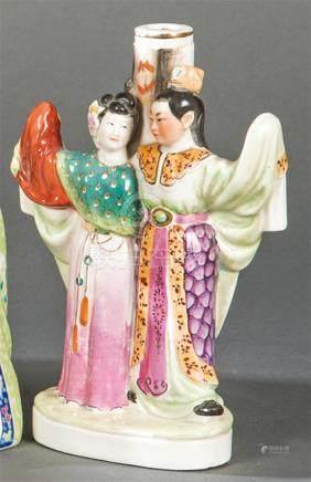 Chinese porcelain vase with polychrome glazing, 19th century
