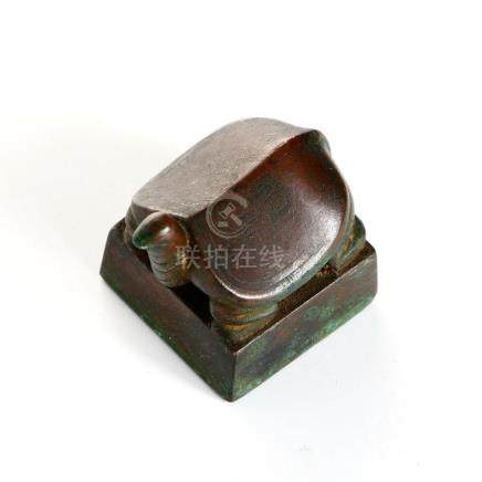 Chinese Bronze 'Turtle' Seal
