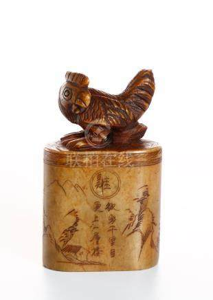 Chinese Shoushan Seal of Chicken