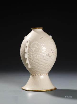 Chinese Unusual White Glazed Ting-Type'Fish' Vase