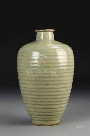 Chinese Lungquan Celadon Meiping Vase