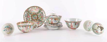 A lot of various porcelain, China, Canton, around 1900.