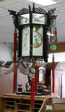 A Chinese hanging lamp, China 20th century.