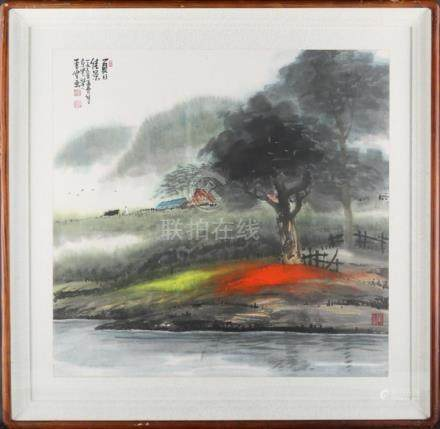 "Chinese Beatiful Impressionist Original Watercolor ""Summer"""