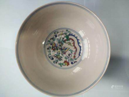 Dou Cai Dragon and Phoenix Pattern Porcelain Bowl