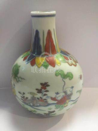 Dou Cai Porcelain Bottle