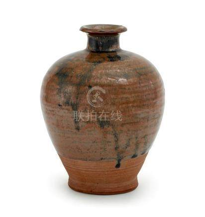 A 'CIZHOU'-TYPE RUSSET AND BLACK GLAZED VASE SONG DYNASTY 17