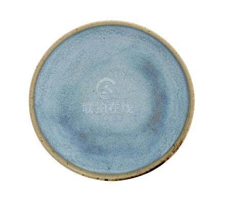 A SMALL 'JUN' DISH YUAN DYNASTY 13.2 cm diameter