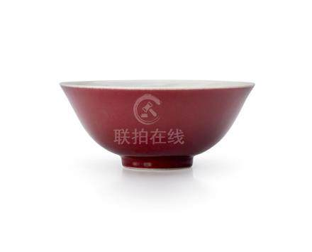 A COPPER-RED GLAZED BOWL DAOGUANG SEAL MARK AND PERIOD 15.5