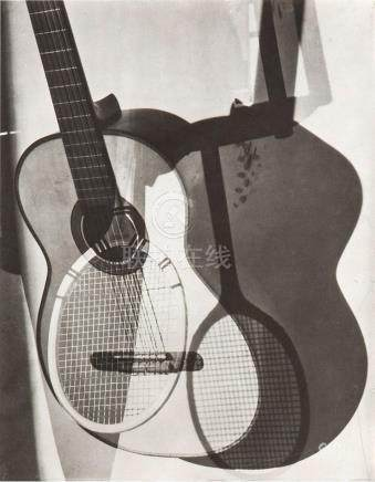 MAURICE TABARD 1897-1984 Abstraction with Guitar 1932 gelati