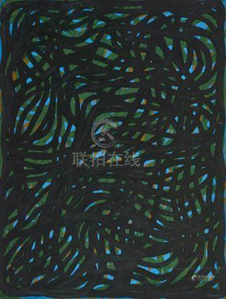 SOL LEWITT 1928-2007 (Loopy Doopy) 2001 watercolour and goua
