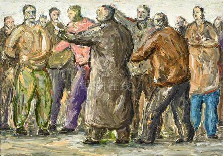 PETER BOOTH born 1940 Painting 1999 (Group of Figures) 1999