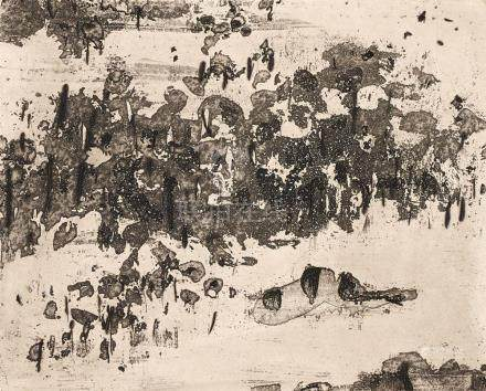FRED WILLIAMS 1927-1982 You Yangs Pond (1963-1964) etching,