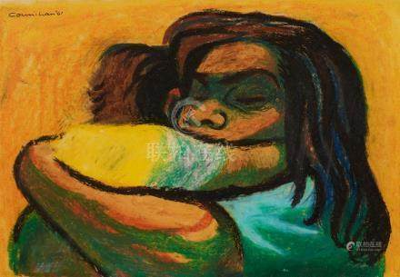 NOEL COUNIHAN 1913-1986 (Mother and Child) 1961 oil and oil
