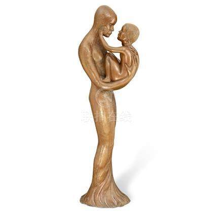 GUY BOYD 1923-1988 Mother and Child 1985-1987 bronze 154 cm