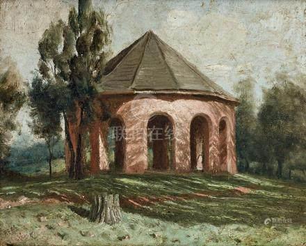 LLOYD REES 1895-1988 The Rotunda 1922 oil on canvas on board