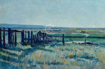 § CHARLES LLOYD JONES 1878-1958 (Landscape) oil on board 30.