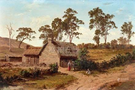 HENRY JAMES JOHNSTONE 1835-1907 Cottage at Athelstone 1877 o