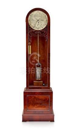 A Victorian mahogany longcase regulator, Baynes, London, cir