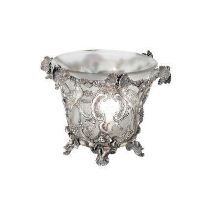 A silver sugar basket, possibly William Edwards, London and