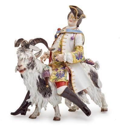 A large Meissen porcelain model, 'Count von Brühl's Tailor',